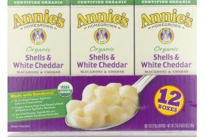 Annie's Homegrown Organic Shells & White Cheddar Macaroni & Cheese - 12 CT