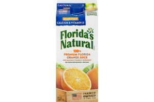 Florida's Natural 100% Orange Juice Some Pulp Calcium Vitamin D