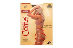 Колготы женские Conte Active 40den 2-S bronz