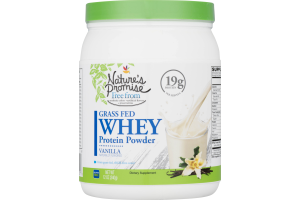 Nature's Promise Grass Fed Whey Protein Powder Vanilla