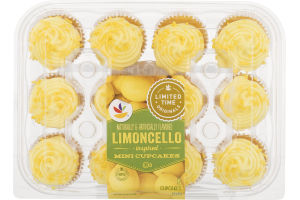 Ahold Limoncello Inspired Mini Cupcakes - 12 CT