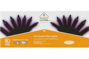 Smart Living Halloween Orange Mini Lights - 50 CT