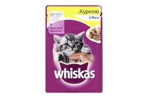 Корм для котят с курицей в желе Junior Whiskas д/п 100г