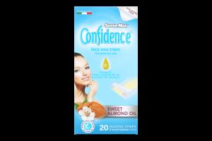 Полоски для депіляції обличчя воскові для чутливої шкіри Confidence Super-Max 20шт
