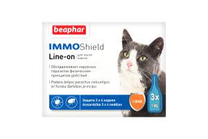 Капли антипаразит-ные с диметиконом (IMMO SHIELD) д/котов и котят (3 пип.)