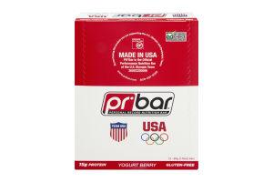 PR Bar Personal Record Nutrition Bar Yogurt Berry - Gluten Free - 12 Bars