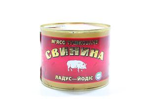 Свинина Ладус тушкована ж/б 525г х 24
