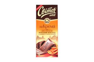 Шоколад Світоч Ла Крема молочний зі смаком карамелі 90г