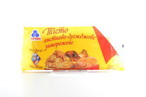 Тесто Рудь слоеное дрожжевое с/м 0,5кг