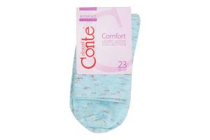 Шкарпетки жіночі Conte Comfort №14С-115СП 23 блідо-бірюзовий