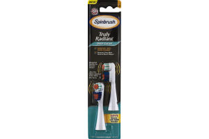 Arm & Hammer Spinbrush Truly Radiant Deep Clean Replacement Brush Heads Soft - 2 CT