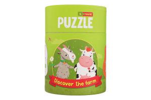 Пазл для дітей від 18міс №200107 Хто живе на фермі 2-3 елементи Mon Puzzle 1шт