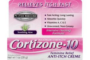 Cortizone-10 Feminine Relief Anti-Itch Creme