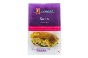 Сир Emborg Swiss нарізаний 45% 150г х6