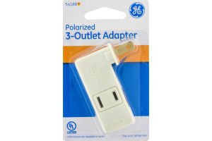 GE Polarized 3-Outlet Adapter