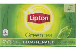 Lipton Green Tea Bags Decaffeinated - 20 CT