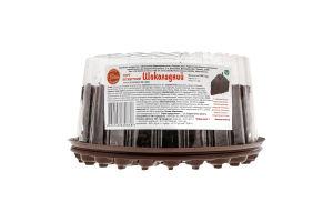 Торт бісквітний Шоколадний Солодка хата п/у 1кг