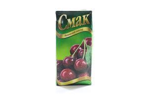 Нектар вишневый с сахаром Смак т/п 1л