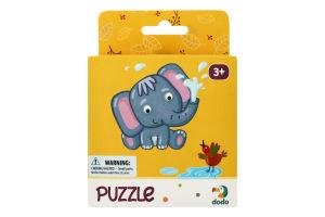 Пазл для детей от 3лет 22х22см №300162 Слоненок Dodo 16эл