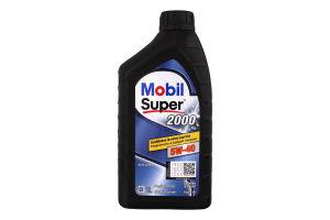 Олива моторна напівсинтетична 5W-40 2000 Mobil Super 1л