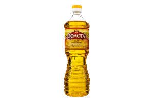 Олія соняшникова рафінована дезодорована Золота п/пл 0.82л