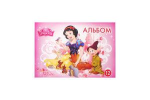 Альбом для малювання Disney Princess А4 12арк. скоба Ц632024