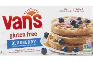 Van's Gluten Free Whole Grain Brown Rice Waffles Blueberry - 6 CT