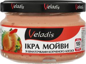 Ікра мойви зі шматочками копченого лосося Veladis с/б 180г