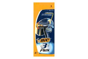 Станок для бритья мужской одноразовый Flex 3 BIC 4шт