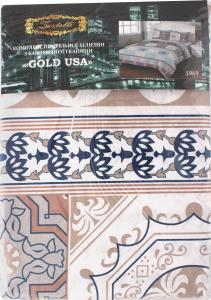 КПБ євро 200*220см/220*240см/нав.50*70-2шт, бязь GOLD USA 10, 125гр/м2