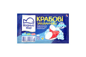 Крабовые рулетики замороженные Водный Мир в/у 300г