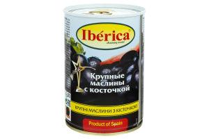 Маслини з кісточкою великі Iberica з/б 420г