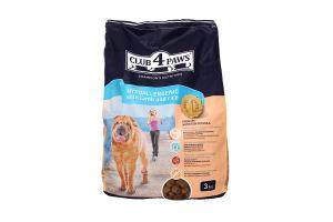 Корм для дорослих собак з м'ясом ягняти та рисом сухий повнораціонний Club 4 Paws 3кг