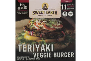 Sweet Earth Natural Foods Teriyaki Veggie Burger - 2 CT