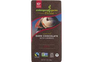 Endangered Species Chocolate Dark Chocolate With Cherries 72% Cocoa