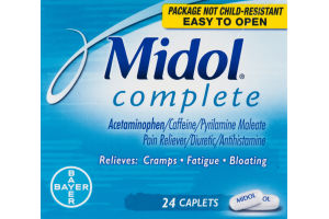 Midol Complete Pain Reliever - 24 CT