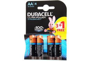 DURACELL Ultra Power AA Бат. алкал. 1.5V LR6 3+1шт безкоштовно 4шт