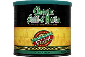 Chock Full O' Nuts Decaffeinated Original Ground Coffee