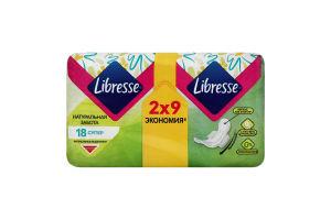 Прокладки гігієнічні Super Natural Care Libresse 18шт