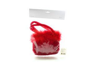 Сумка червона для декору 254914