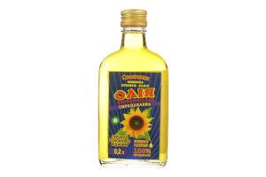 Олія соняшникова сиродавлена першого холодного віджиму Соняшки с/пл 0.2л