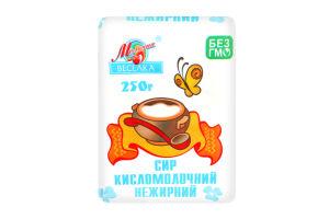 Сир кисломолочний нежирний Молочна веселка м/у 250г