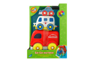 Набір іграшок для дітей від 1року №618 Машинки Бі-Бі-мотики Mommy Love 1шт