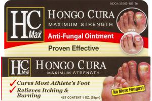 HC Max Hongo Cura Maximum Strength Anti-Fungal Ointment