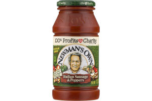 Newman's Own Pasta Sauce Italian Sausage & Peppers