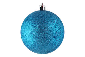 Украшение елочное Шар синий пластик 8см D-04
