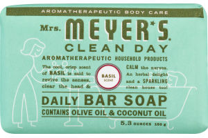 Mrs. Meyer's Clean Day Daily Bar Soap Basil