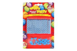 Свічки для торту магічні №P67-6154 Happy Party Помічниця 18шт