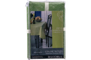 Royal Crest Colortrends PEVA Flannelback Tablecloth