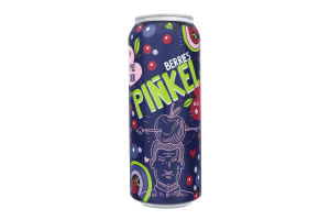 Сидр 0.5л 5-6.9% газированный сладкий со вкусом лесных ягод Pinkel Cidre Royal ж/б